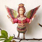 handmade. Livemaster - original item Cotton Christmas toy Alkonost-bird of Paradise. Handmade.