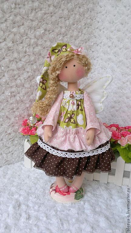 Коллекционные куклы ручной работы. Ярмарка Мастеров - ручная работа. Купить Гномочка Katerinka. Handmade. Бледно-розовый, ангел-хранитель