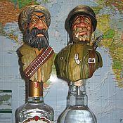 """Сувениры и подарки handmade. Livemaster - original item """"Солдаты/Союзники"""" - набор пробок для бутылок, на подставке.. Handmade."""