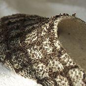"""Обувь ручной работы. Ярмарка Мастеров - ручная работа Тапочки валяные женские """"Тирамису"""". Handmade."""