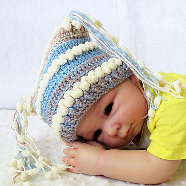 Clothing handmade. Livemaster - original item Knitted cap for a girl or a boy, for a photo shoot of newborns. Handmade.