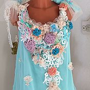 "Одежда handmade. Livemaster - original item Top ""Maria Antoinette"" in the style of Shebbie  chic.. Handmade."
