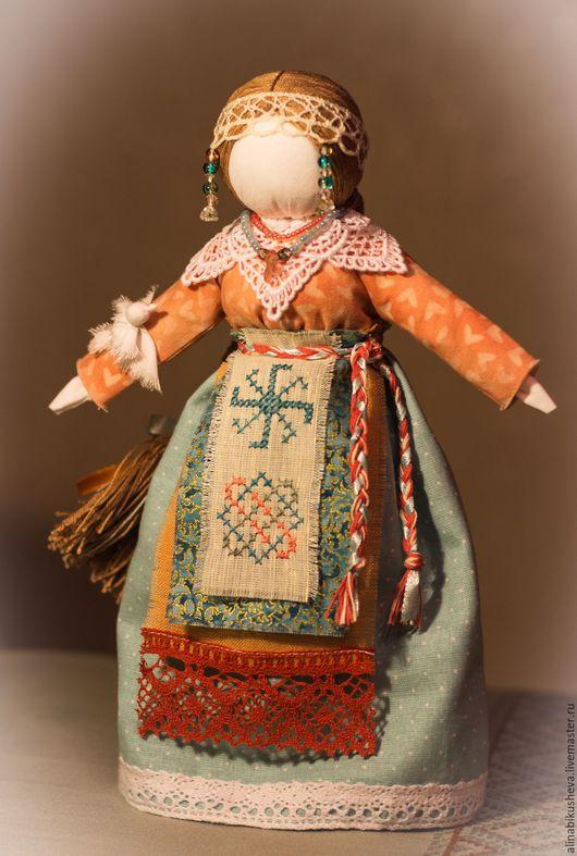 """Народные куклы ручной работы. Ярмарка Мастеров - ручная работа. Купить Авторская кукла-оберег """"Богиня Лада"""". Handmade. Голубой"""