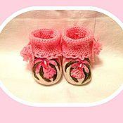 """Обувь ручной работы. Ярмарка Мастеров - ручная работа Пинеточки """"Розовый сон для внучки"""". Handmade."""