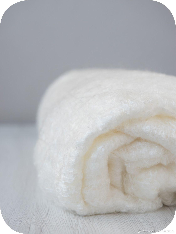 Валяние ручной работы. Ярмарка Мастеров - ручная работа. Купить Шелковое одеяло. 10 гр. Китай. Handmade. Белый
