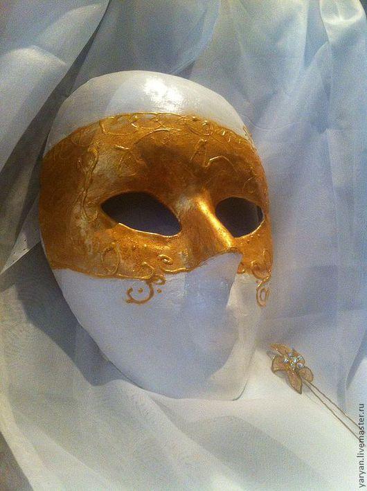 Интерьерные  маски ручной работы. Ярмарка Мастеров - ручная работа. Купить Вольто. Handmade. Золотой, карнавал, маскарад, венецианская маска