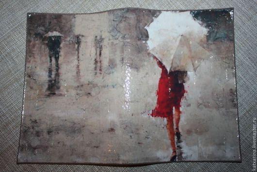 """Обложки ручной работы. Ярмарка Мастеров - ручная работа. Купить Обложка на паспорт """" У природы нет плохой погоды..."""". Handmade."""