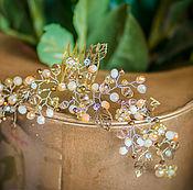 Свадебный салон handmade. Livemaster - original item Wedding comb. Milky-beige.. Handmade.