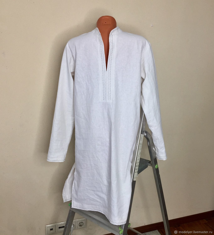 bf986703b Collars handmade. Livemaster - handmade. Buy Shirt-Caftan male / white linen .