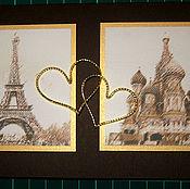 Свадебный салон ручной работы. Ярмарка Мастеров - ручная работа приглашение на свадьбу в Париж. Handmade.
