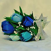 """Работы для детей, ручной работы. Ярмарка Мастеров - ручная работа Крабик """"Синие тюльпаны"""". Handmade."""