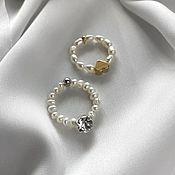 Украшения handmade. Livemaster - original item Ring of pearls. Pearl rings on the finger. Handmade.
