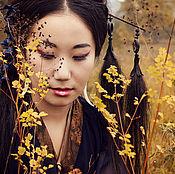 """Украшения ручной работы. Ярмарка Мастеров - ручная работа Канзаши для волос """"Дочь ветра"""". Handmade."""
