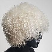Figurine handmade. Livemaster - original item Mountain hat from goat fur white. Handmade.