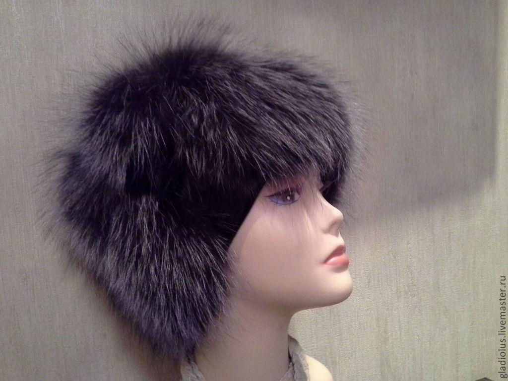 Береты ручной работы. Ярмарка Мастеров - ручная работа. Купить Меховая шапка-кубанка на трикотажной основе. Handmade. Лиса