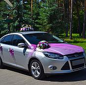 Свадебный салон ручной работы. Ярмарка Мастеров - ручная работа свадебное украшение на авто №4. Handmade.