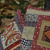 Для дома и интерьера ручной работы. Ярмарка Мастеров - ручная работа Комплект из двух лоскутных наволочек для подуш. Осеннее сафари №1 и №2. Handmade.