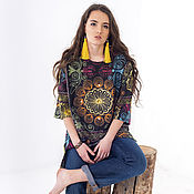 "Одежда handmade. Livemaster - original item Tunic ""Country of the Sun"". Handmade."