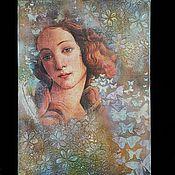 Картины и панно handmade. Livemaster - original item Painting,Spring painting decoupage mixed media. Handmade.