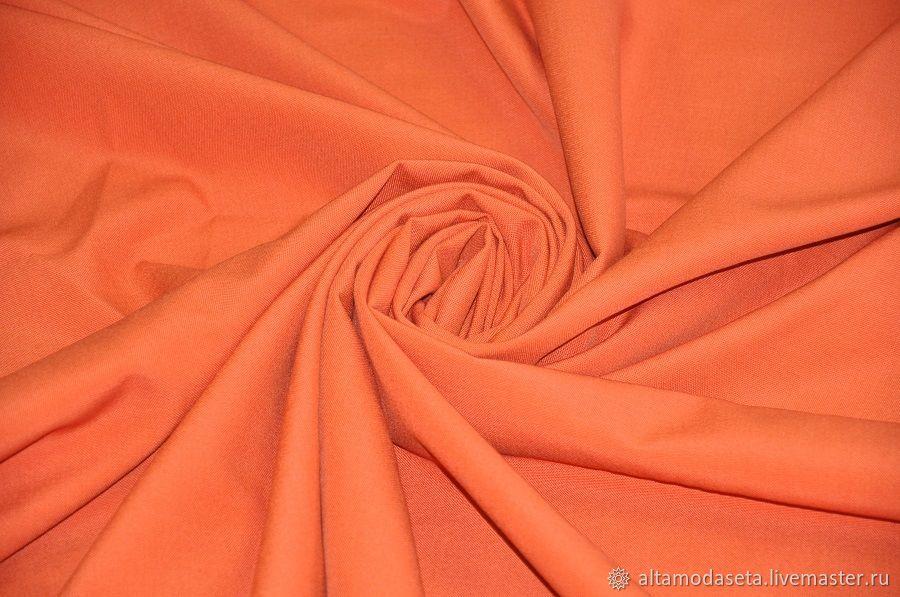 Шерсть для костюма оранжевая из Италии, Ткани, Москва,  Фото №1