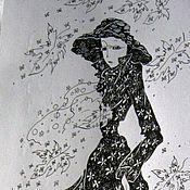 Картины и панно ручной работы. Ярмарка Мастеров - ручная работа Мисс осень. Handmade.