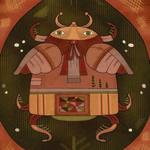Серебряный жук - сказочные картины - Ярмарка Мастеров - ручная работа, handmade