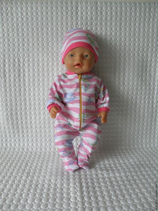 Одежда для кукол ручной работы. Ярмарка Мастеров - ручная работа. Купить Одежда для куклы. Слип и шапочка. Handmade. Baby born