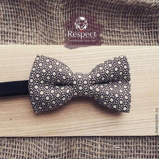 Галстуки, бабочки ручной работы. Ярмарка Мастеров - ручная работа. Купить Галстук бабочка Мачо / серая бабочка-галстук в горошек. Handmade.
