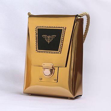 Сумки и аксессуары ручной работы. Ярмарка Мастеров - ручная работа Золотая сумочка из зеркальной металлизированной кожи. Handmade.