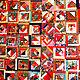 """Текстиль, ковры ручной работы. Ярмарка Мастеров - ручная работа. Купить Лоскутное покрывало """"Каргополь красный"""". Handmade. Ярко-красный"""