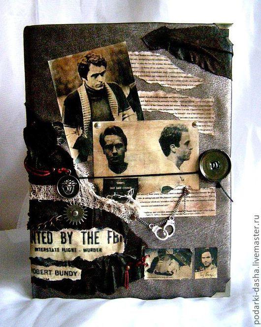 """Подарки для мужчин, ручной работы. Ярмарка Мастеров - ручная работа. Купить Ежедневник """"Серийный убийца Теодор Роберт Банди"""". Handmade."""