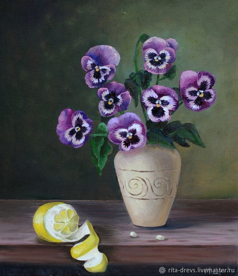 Oil Painting Flowers In A Vase Shop Online On Livemaster With