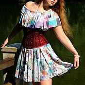 Одежда ручной работы. Ярмарка Мастеров - ручная работа Бордовый корсет готический корсет бурлеск кружевной. Handmade.