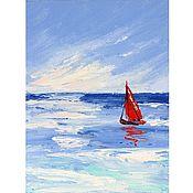 Картины и панно handmade. Livemaster - original item Oil painting Sea Scarlet Sail Seascape. Handmade.