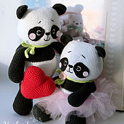 """Куклы и игрушки ручной работы. Ярмарка Мастеров - ручная работа Готовые игрушки """"Влюбленные панды"""". Handmade."""