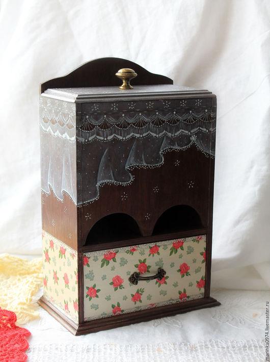 """Кухня ручной работы. Ярмарка Мастеров - ручная работа. Купить Буфет-комод-домик для чая """" С вуалькой""""-10%. Handmade."""
