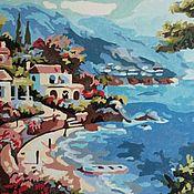 Картины ручной работы. Ярмарка Мастеров - ручная работа Sea shore. The Mediterranean. На берегу . Средиземноморский пейзаж. Handmade.