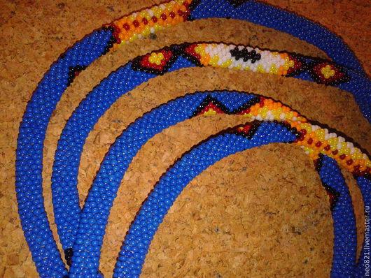 Колье, бусы ручной работы. Ярмарка Мастеров - ручная работа. Купить Гайтаны. Handmade. Бисер чешский, бисерное украшение