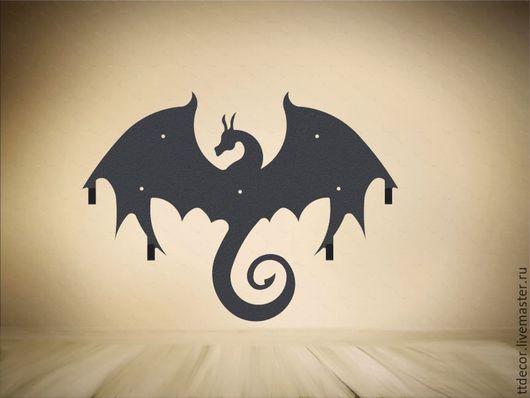 """Прихожая ручной работы. Ярмарка Мастеров - ручная работа. Купить Вешалка """"Черный дракон"""". Handmade. Черный, вешалка, для ключей"""