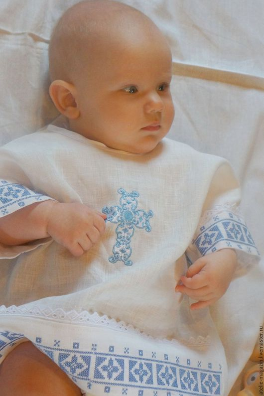 Крестильные принадлежности ручной работы. Ярмарка Мастеров - ручная работа. Купить Крестильная рубашка.. Handmade. Крестины, крестильная пеленка