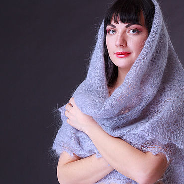 Accessories handmade. Livemaster - original item shawl grey. Handmade.
