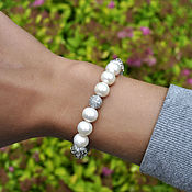 Украшения handmade. Livemaster - original item Luxurious bracelet with natural pearls. Handmade.
