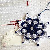 Подарки к праздникам ручной работы. Ярмарка Мастеров - ручная работа Снежинка в технике квиллинг. Handmade.