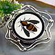 Pendant 'Bee' - the Florentine mosaic silver. Pendants. Izovella. My Livemaster. Фото №4