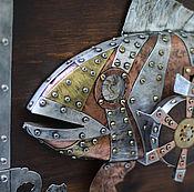 """Картины и панно ручной работы. Ярмарка Мастеров - ручная работа Панно стимпанк """"Рыба"""". Handmade."""