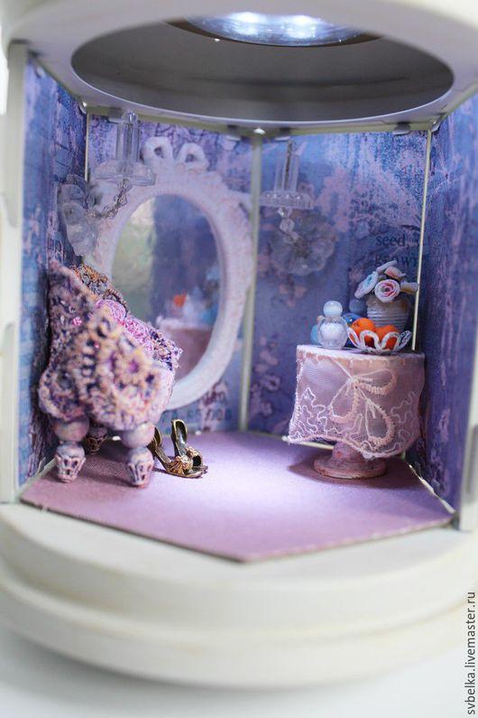 Кукольный дом ручной работы. Ярмарка Мастеров - ручная работа. Купить Светильник Будуар. Handmade. Золотой, шебби, металл