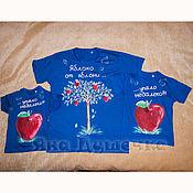 Одежда handmade. Livemaster - original item T-shirt  hand painted apple trees. Handmade.