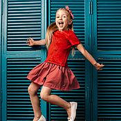 """Работы для детей, ручной работы. Ярмарка Мастеров - ручная работа Платье+ободок """"Velur Mix"""". Handmade."""