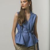 Одежда handmade. Livemaster - original item Blue top. Handmade.