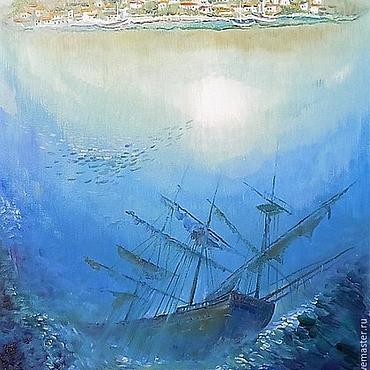 Картины и панно ручной работы. Ярмарка Мастеров - ручная работа Тайны моря. Handmade.